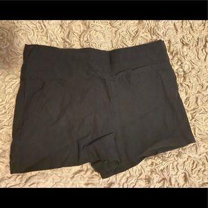 Dark Black Spandex Shorts from Body Central
